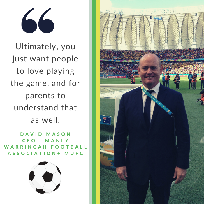 David Mason, CEO Manly Warringah Football Association and Manly United Football Club